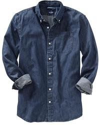 Navy denim shirt original 2767101