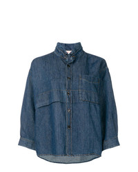 Boxy fit shirt jacket medium 7816271