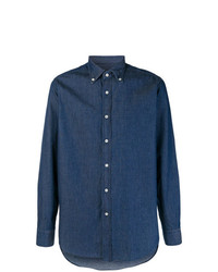 Mp Massimo Piombo Classic Denim Shirt
