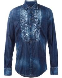 Distressed denim shirt medium 787308