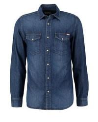Jjvsheridan slim fit shirt dark blue denim medium 3777807