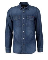 Jjvsheridan slim fit shirt dark blue denim medium 3777807