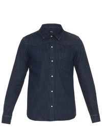 A.P.C. Long Sleeved Denim Shirt