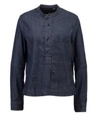 Stalt granddad shirt ls blouse lt wt stretch denim medium 3938199