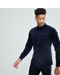 ASOS DESIGN Tall Slim Cord Western Shirt