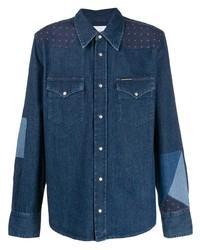 Calvin Klein Jeans Western Patchwork Denim Shirt