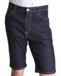 Navy Denim Shorts