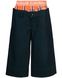 Angus Chiang Cropped Jeans With Boxer Trim