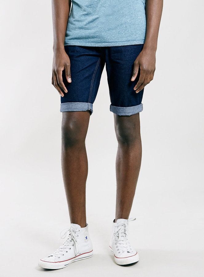 Topman Slim Fit Denim Shorts New Release Discount Sast Low Cost Cheap Online Cheap Cheap Online Amazon Cheap Price v0aiS