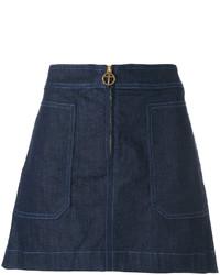 Tory Burch Elise Denim Skirt