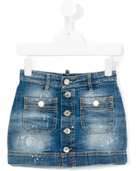DSQUARED2 Kids Stonewash Denim Skirt