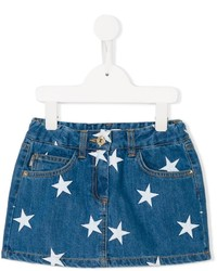 Moschino Kids Star Print Denim Skirt