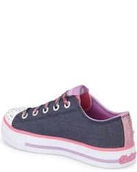 Skechers Girls Twinkle Toes Shuffles Light Up Sneaker