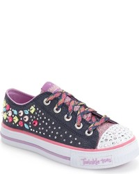 Skechers Girls Twinkle Toes Shuffles Light Up Sneaker