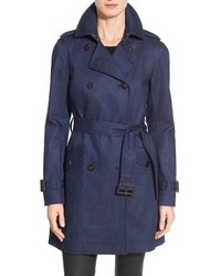 Diane von Furstenberg Grace Denim Trench Coat