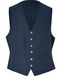 Navy Denim Waistcoat
