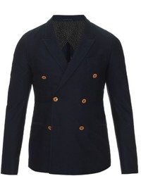 Gucci Double Breasted Cotton Drill Blazer