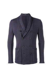 Emporio Armani Knitted Double Breasted Blazer