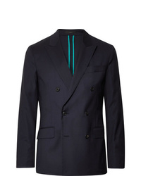 Paul Smith Midnight Blue Soho Slim Fit Double Breasted Wool Suit Jacket