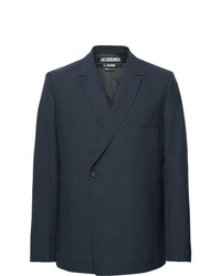 Jacquemus Navy Wool Suit Jacket