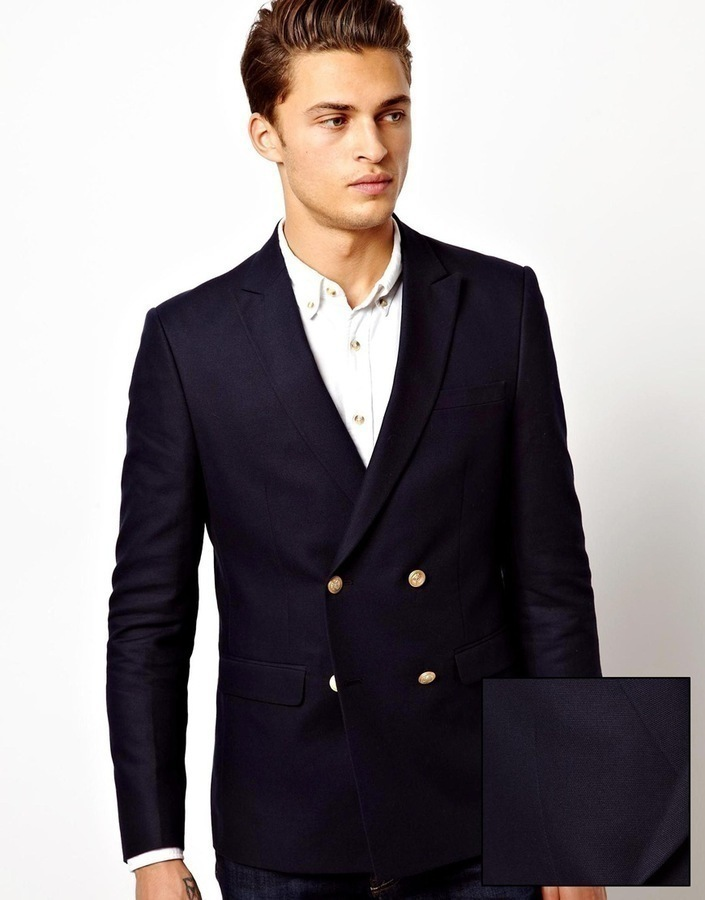 ... Navy Double Breasted Blazers Asos Slim Fit Double Breasted Blazer With Gold  Buttons