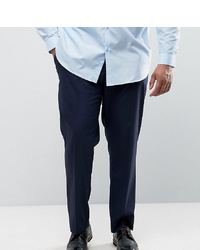ASOS DESIGN Asos Plus Slim Smart Trousers In Navy