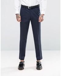 ASOS DESIGN Asos Slim Tuxedo Suit Trousers In Navy