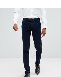ASOS DESIGN Asos Tall Skinny Trousers In Navy Texture With