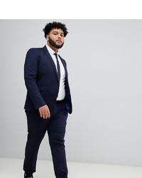 Burton Menswear Big Tall Skinny Suit Trousers In Navy