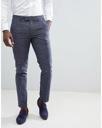 Farah Smart Farah Skinny Suit Trousers In Twisted Yarn