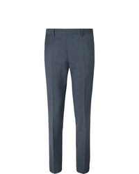 Hugo Boss Navy Genesis Slim Fit Virgin Wool Trousers