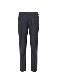 Kingsman Navy Slim Fit Prince Of Wales Checked Wool Suit Trousers