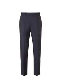 Hugo Boss Navy Slim Fit Virgin Wool And Mohair Blend Trousers