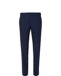 Thom Sweeney Navy Slim Fit Wool Suit Trousers