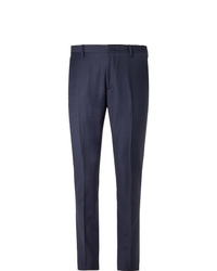 Paul Smith Navy Soho Slim Fit Puppytooth Wool Suit Trousers