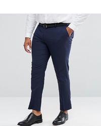 ASOS DESIGN Plus Skinny Suit Trousers In Navy