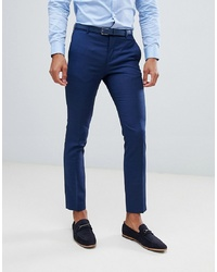Jack & Jones Premium Suit Trouser In Slim Fit Blue