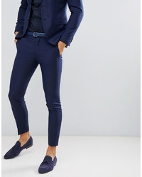 Jack & Jones Premium Suit Trouser In Super Slim Fit Navy