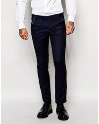 Rogues Of London Tuxedo Suit Pants In Slim Fit