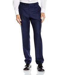 Shape Fit Pleat Front Suit Trousers Blue