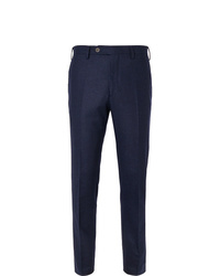 Lardini Skinny Fit Mlange Wool Trousers