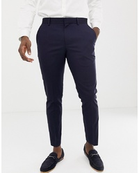 Burton Menswear Skinny Suit Trousers In Navy