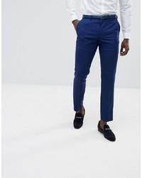 Burton Menswear Slim Fit Suit Trousers In Bright Blue
