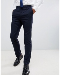 New Look Smart Slim Trousers In Navy