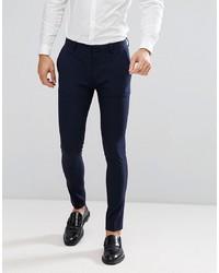 ASOS DESIGN Super Skinny Fit Suit Trousers In Navy