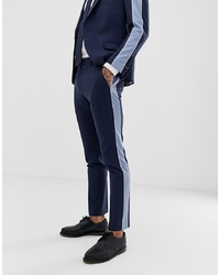 Twisted Tailor Super Skinny Suit Trouser With Contrast Stripe