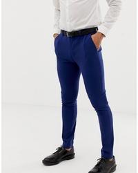 ASOS DESIGN Super Skinny Suit Trousers In Bright Blue