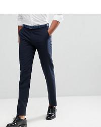 Harry Brown Tall Plain Black Slim Tuxedo Suit Trousers