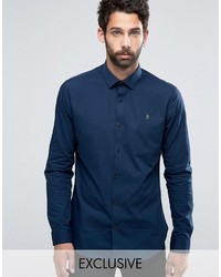 Farah Classic Shirt In Slim Fit With Stretch