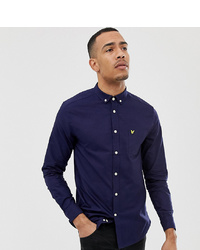 Lyle & Scott Long Sleeve Oxford Shirt In Navy